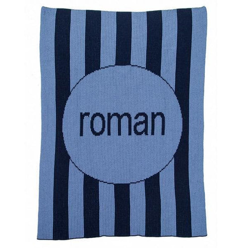 Personalized Vertical Modern Stripe Stroller Blanket (Many Colors Available)