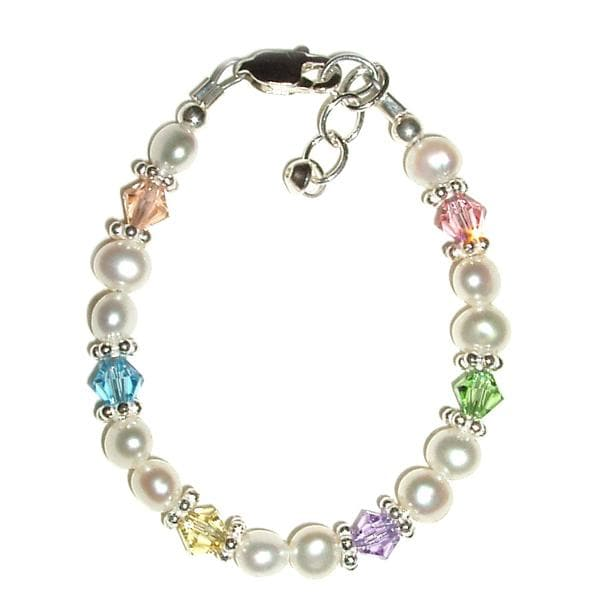 Pastels and Pearls Baby Bracelet