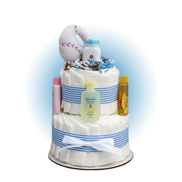Mini Baseball 2-Tier Diaper Cake
