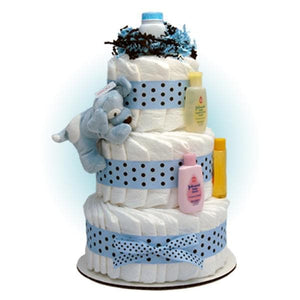 Blue Sparky 3-Tier Diaper Cake