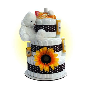 Brighton Bear 3-Tier Diaper Cake
