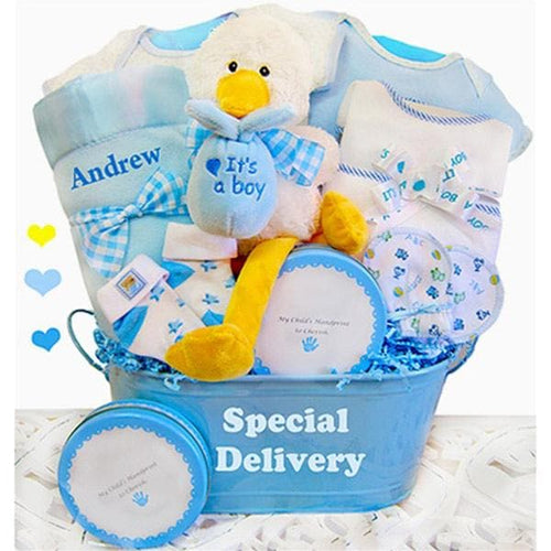 A Special Delivery Personalized Gift Set - Boy