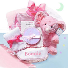 Load image into Gallery viewer, Minky Dots Personalized Gift Basket (Multiple Colors Available)