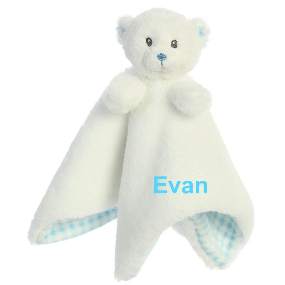 Blue Baby Bear Lovey Security Blanket (Personalization Available)