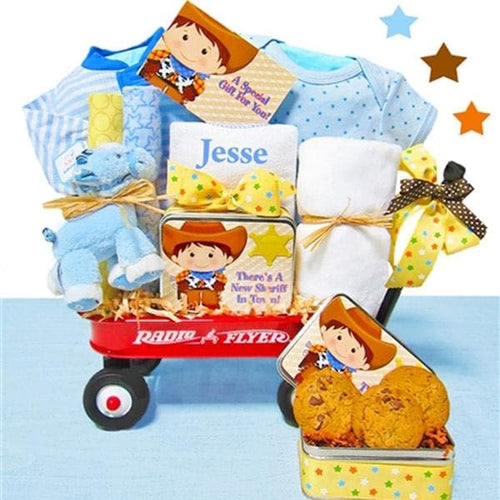 Personalized Cowboy Radio Flyer Wagon Gift Basket