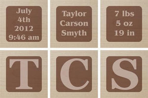 Classic Personalized Baby Block