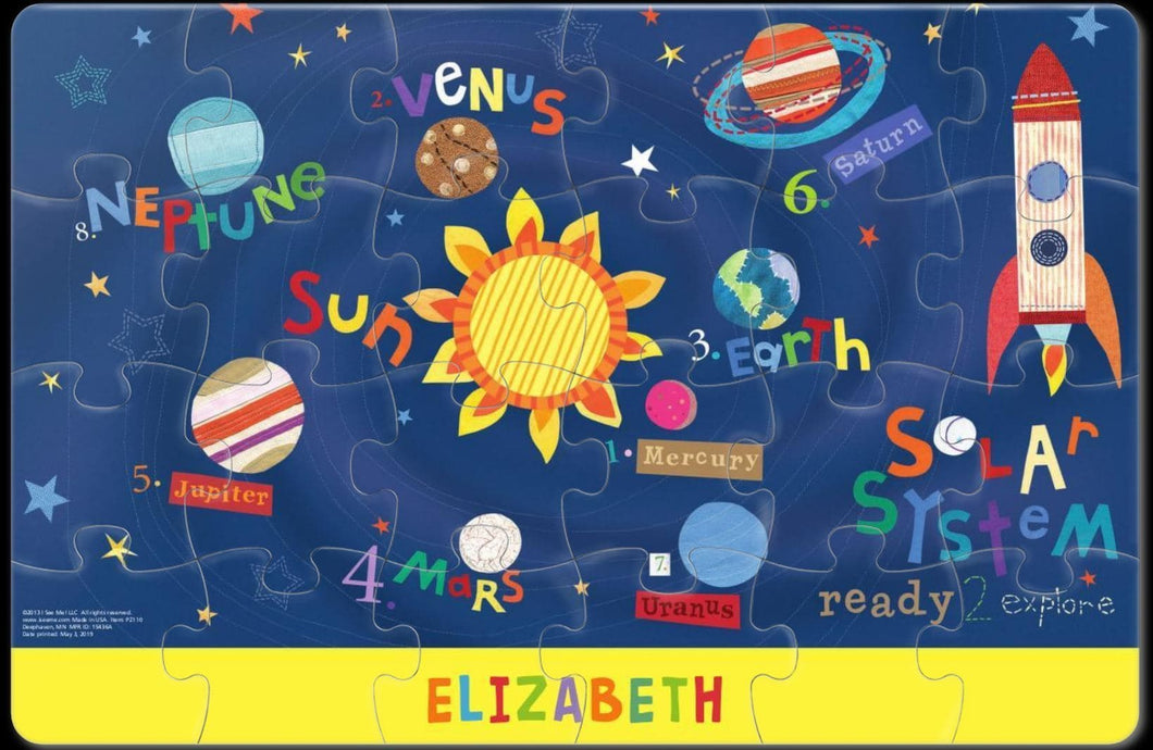 Outerspace Personalized Puzzle