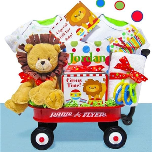 Personalized Day At The Circus Radio Flyer Wagon Gift Basket