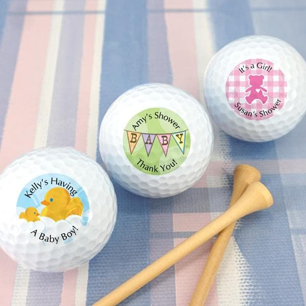 Personalized Baby Shower Golf Ball Favors (Many Designs Available)