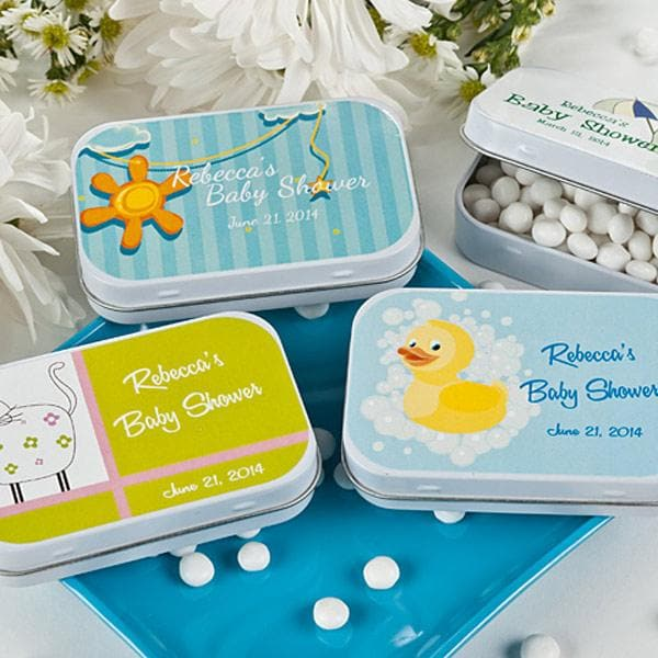 Baby Shower Personalized Mint Tins - Large