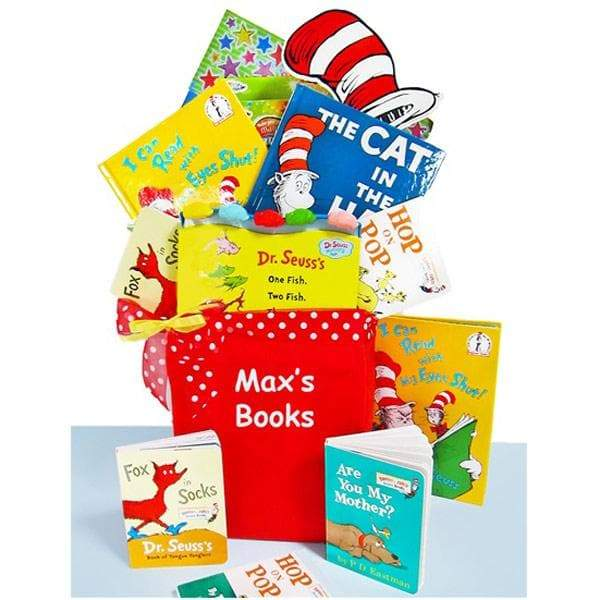 Personalized Dr. Seuss Library Gift Basket