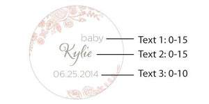 Personalized Rustic Baby Glass Favor Jars (Set of 12)