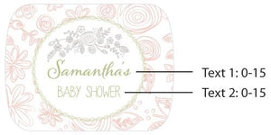 Personalized Rustic Baby Shower Silver Bottle Opener