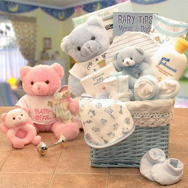 Sweet Baby of Mine Baby Gift Basket (Blue)