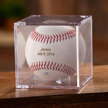 Load image into Gallery viewer, Classic Rawlings Personalized Leather Baseball and Acrylic Case