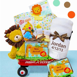 Personalized Jungle Jamboree Radio Flyer Wagon Gift Basket