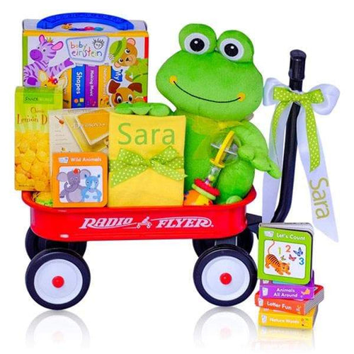 Personalized Baby Einstein Frog Radio Flyer Wagon Gift Basket