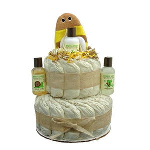 Little Bumble Bee 2 Tier Organic Diaper Cake