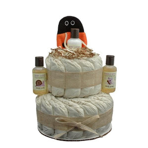 Little Scrub Lady Bug 2 Tier Organic Diaper Cake