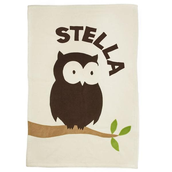 Personalized Gifts for Baby: Owl Blanket