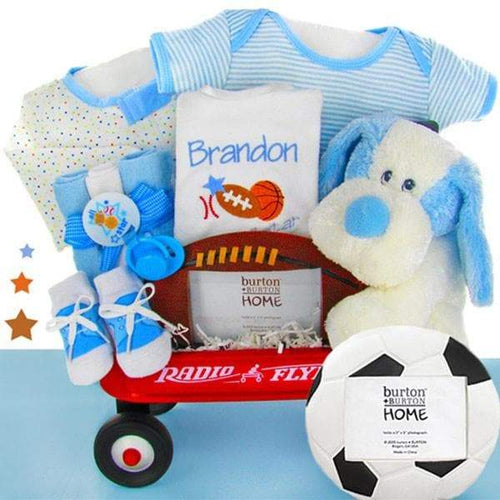 Personalized All Star Radio Flyer Wagon Gift Basket - Boy