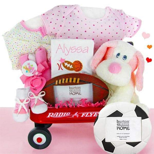 Personalized All Star Radio Flyer Wagon Gift Basket - Girl