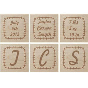 Personalized Patchwork Baby Block
