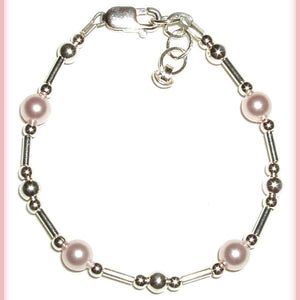 Pink Clouds and Silver Linings Baby Bracelet