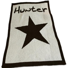 Load image into Gallery viewer, Personalized Acrylic Stroller Blanket with Star and Name (Many Colors Available)