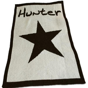 Personalized Acrylic Stroller Blanket with Star and Name (Many Colors Available)