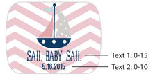 Load image into Gallery viewer, Personalized Nautical Baby Shower Silver Bottle Opener
