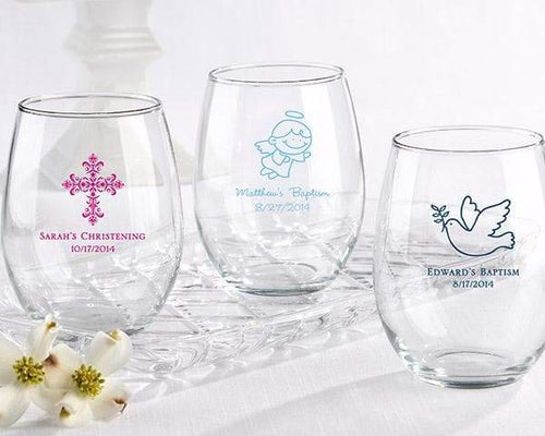 Personalized Religious 15 oz. Stemless Wine Glass