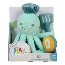 Load image into Gallery viewer, Octopus Chef 3-Piece OccuPLAYtion Baby Gift Set