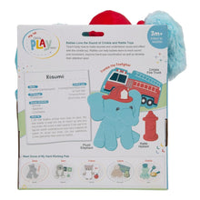 Load image into Gallery viewer, Elephant Firefighter 3-Piece OccuPLAYtion Baby Gift Set
