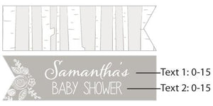 Personalized Rustic Baby Shower Party Flags