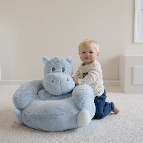 Hippo Plush Character Chair