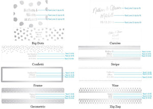 Personalized Silver Foil Water Bottle Labels