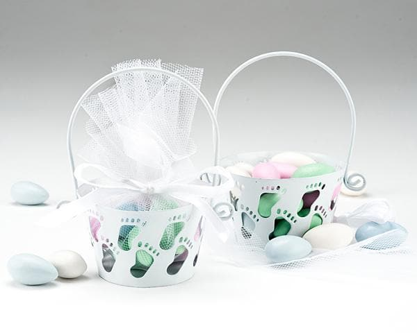 Footprints Baby Feet Favor Basket
