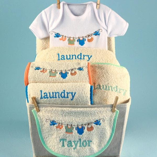 Personalized Baby Laundry Baby Gift Basket