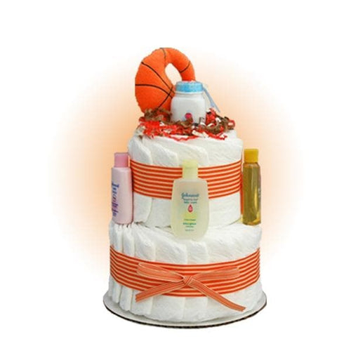 Mini Basketball 2-Tier Diaper Cake