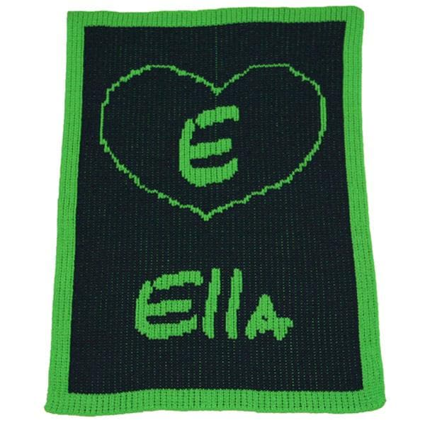 Personalized Acrylic Stroller Blanket with Heart (Many Colors Available)