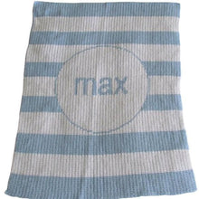 Load image into Gallery viewer, Personalized Acrylic Stroller Blanket with Modern Stripe (Many Colors Available)