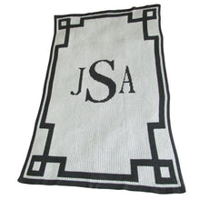 Load image into Gallery viewer, Personalized Acrylic Stroller Blanket with Monogram and Scroll (Many Colors Available)