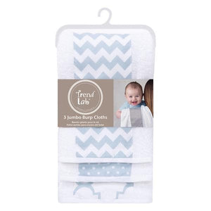 3 Pack Jumbo Burp Cloth Set (Multiple Colors Available)