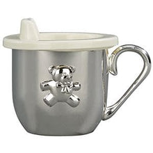 Load image into Gallery viewer, The Silver Sippy Silver Plated Bear Cup (Personalization Available)