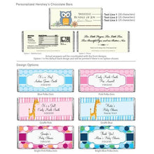 Load image into Gallery viewer, Personalized Exclusive Baby Hershey Wrappers (Many Designs Available)
