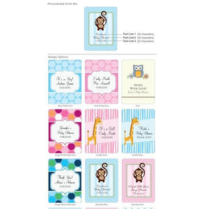 Personalized Exclusive Baby Shower Cocktail Favors