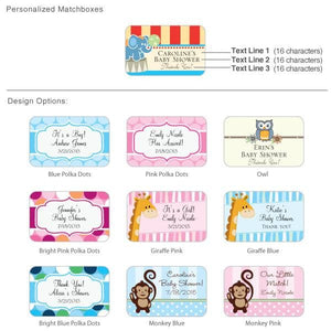 Personalized Exclusive Matchbox Baby Shower Favors