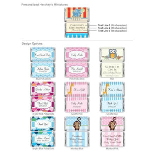 Exclusive Personalized Assorted Hershey's Mini Baby Shower Favors