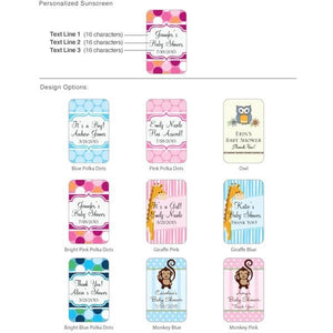 Personalized Exclusive Baby Sunscreen (SPF 30) (Many Designs Available)